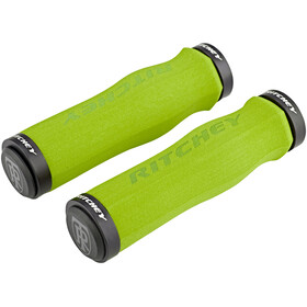 Ritchey WCS Ergo True Grip Bike Grips Lock-On green
